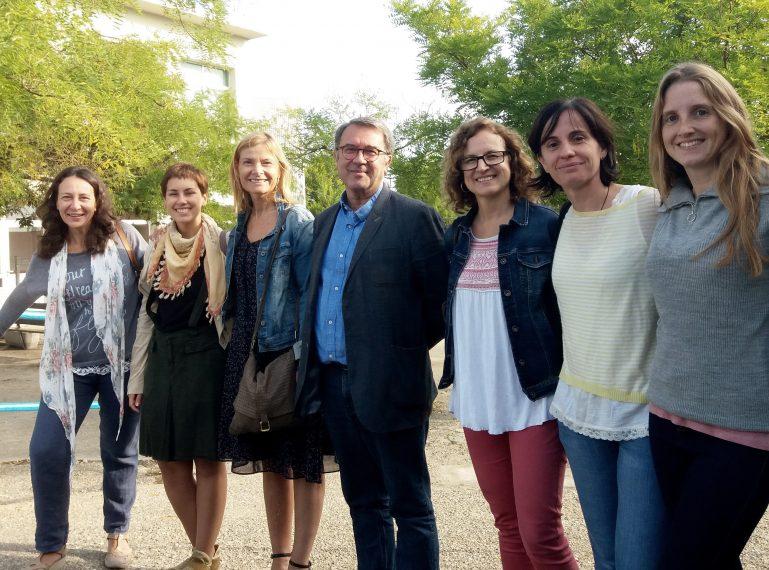 l'Alcaldessa i la Tinenta d'Alcaldessa de Ciutat Educadora visiten l'institut Rubió i Ors i l'Escola Amat Verdú