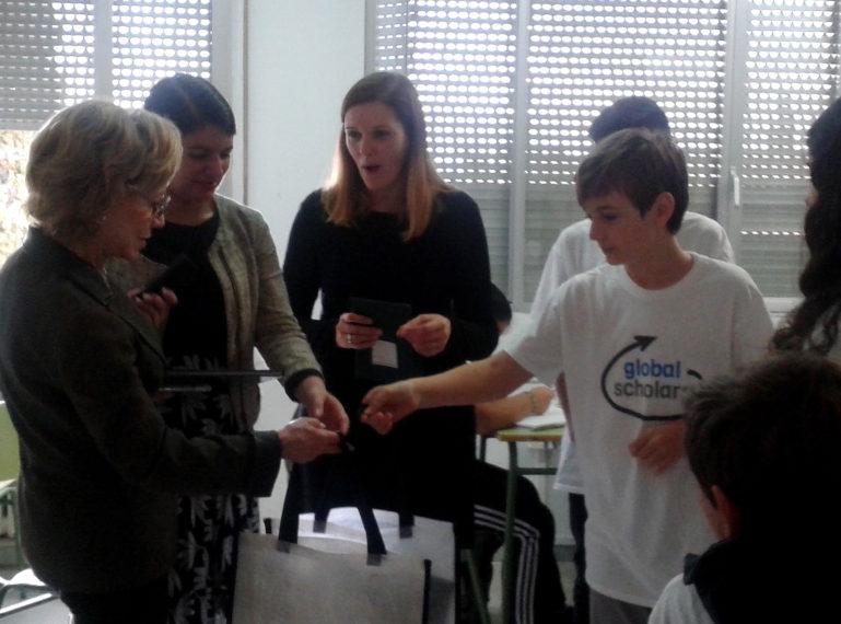 Avui l'Institut Rafael Casanova ha rebut  la visita de la Sra. Marjorie B. Tiven fundadora de Global Cities