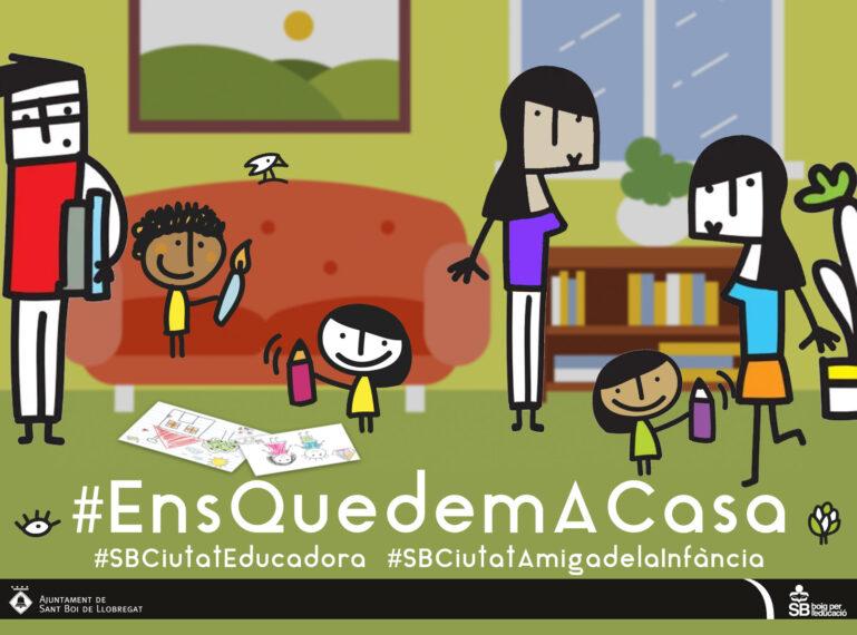 #EnsQuedemACasa: recursos per a infants i famílies